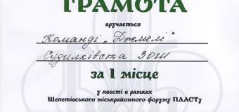 """""""Судилківські Джмелі"""" учасники міськрайонного  ПЛАСТівського форуму"""